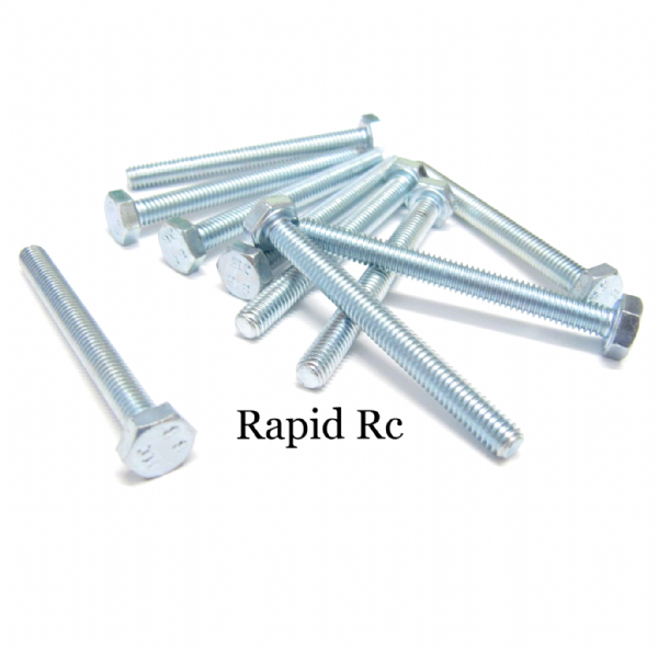 M4 x 40mm Hex Head High Tensile Hex Bolts